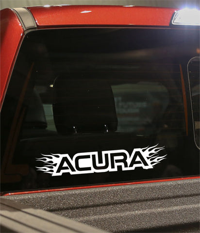Acura flaming car brand decal - North 49 Decals