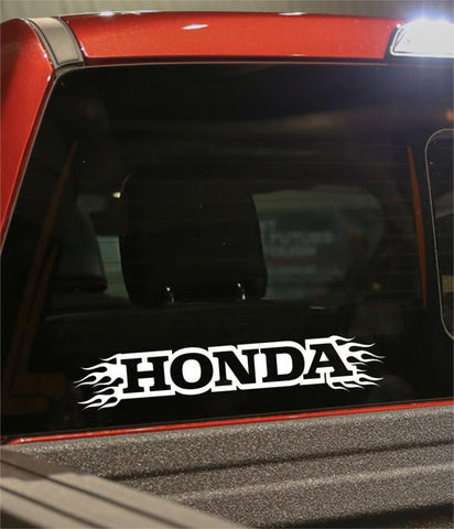 Honda flaming car brand decal - North 49 Decals