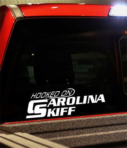 carolina skiff decal, car decal, fishing sticker