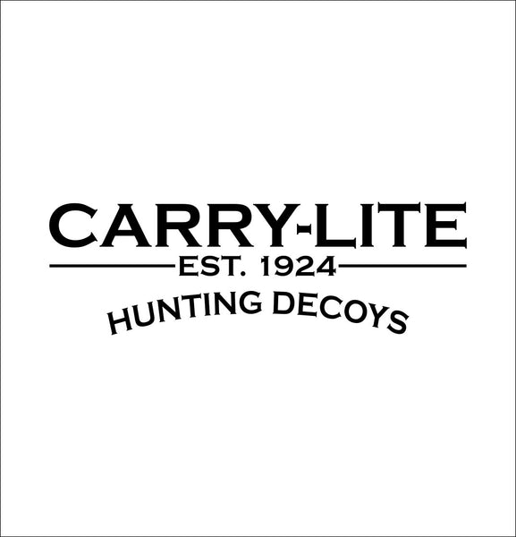 Carry Lite Decoys decal, racing sticker