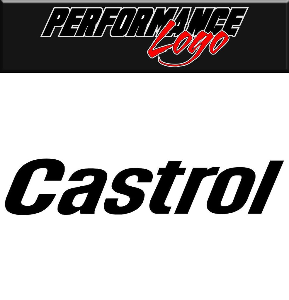 Castrol decal performance decal sticker