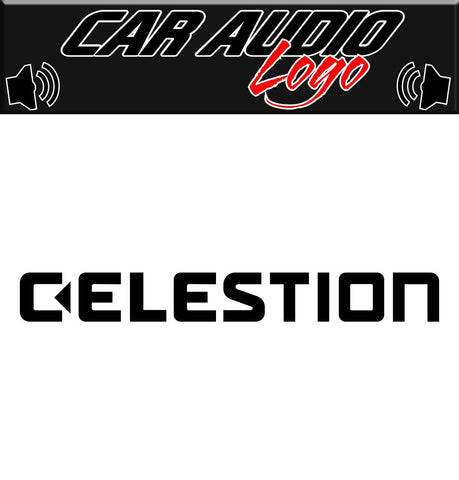 Celestion decal, sticker, audio decal