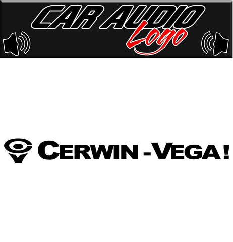Cerwin Vega decal, sticker, audio decal
