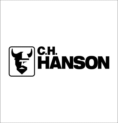 ch hanson decal, car decal sticker
