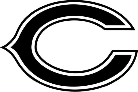 chicago bears car window decal