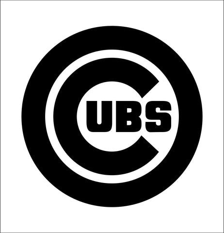 Chicago Cubs decal, car decal sticker