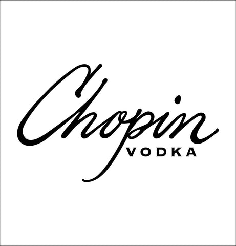 Chopin Vodka decal, vodka decal, car decal, sticker