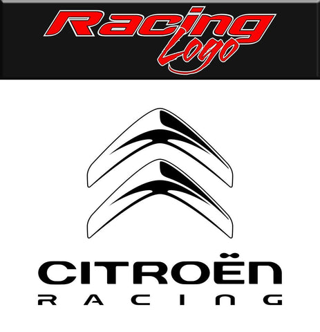 Citroen Racing decal, racing sticker