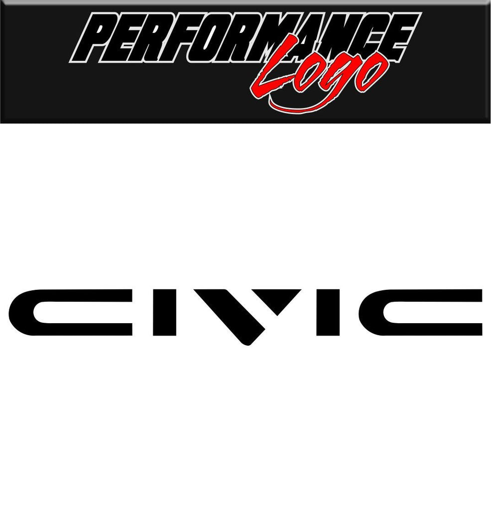 Civic decal performance decal sticker