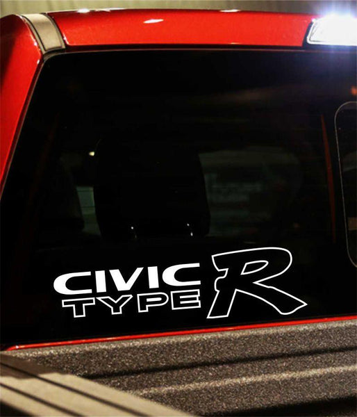 civic type r performance logo decal - North 49 Decals