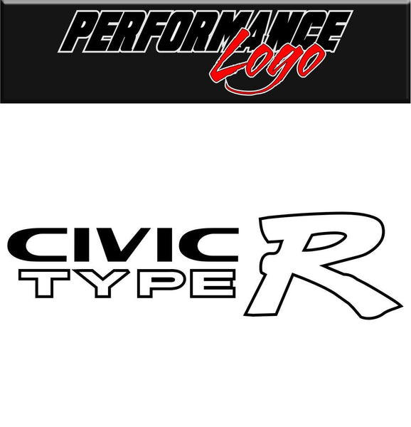 Civic Type R  decal performance decal sticker
