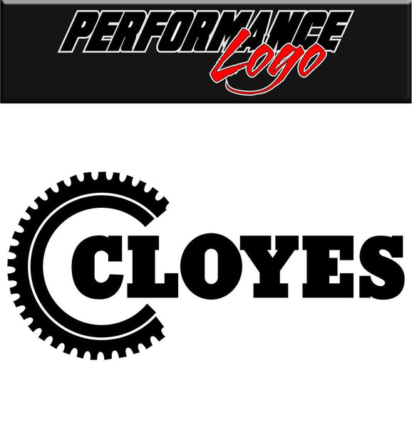 Cloyes decal performance decal sticker