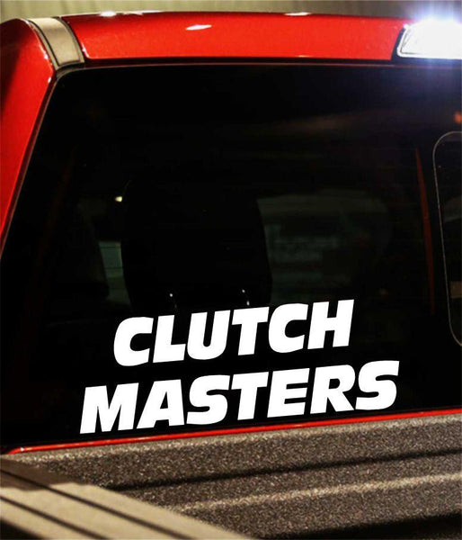 CLUTCH MASTERS performance logo decal - North 49 Decals