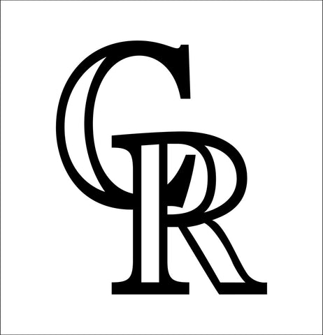Colorado Rockies decal, car decal sticker