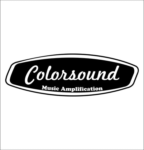 Colorsound decal, music instrument decal, car decal sticker
