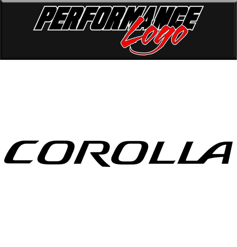 Corolla decal performance decal sticker