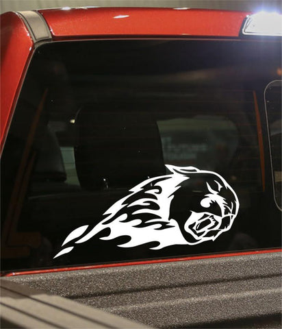cougar 3 flaming animal decal - North 49 Decals