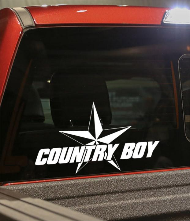 country boy star country & western decal - North 49 Decals