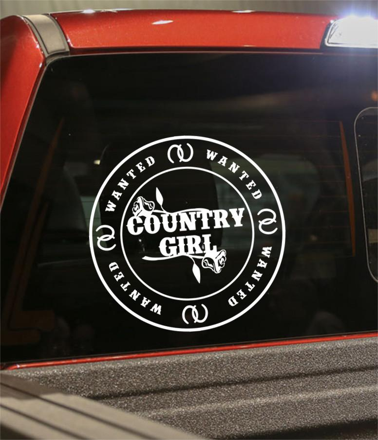 Country girl wanted country & western decal - North 49 Decals