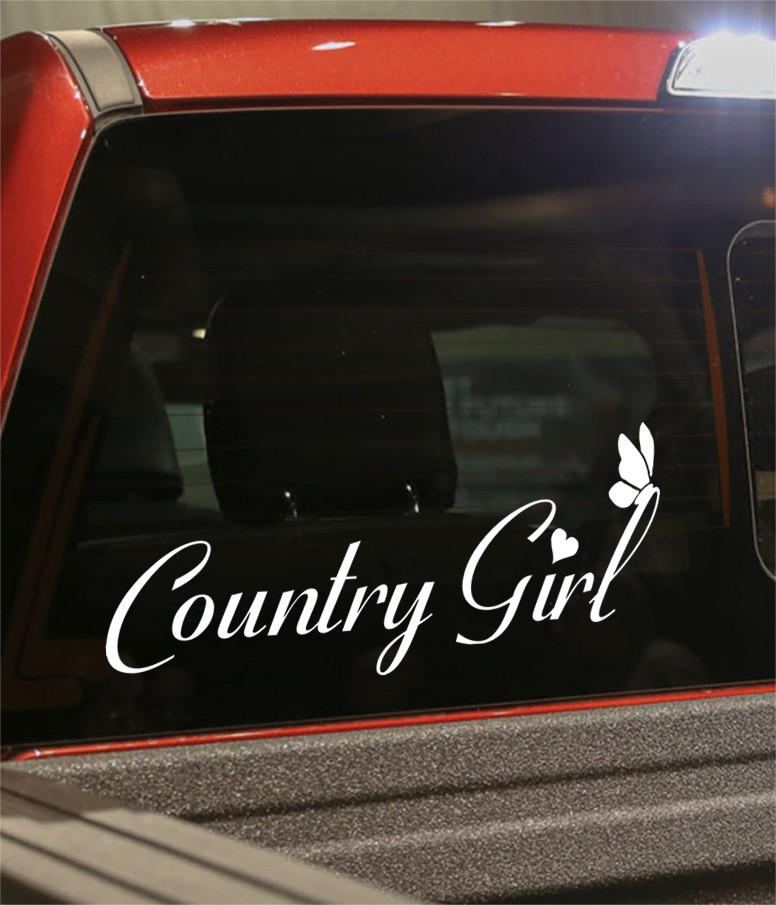 Country girl 2 country & western decal - North 49 Decals