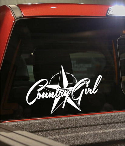 country girl 3 country & western decal - North 49 Decals