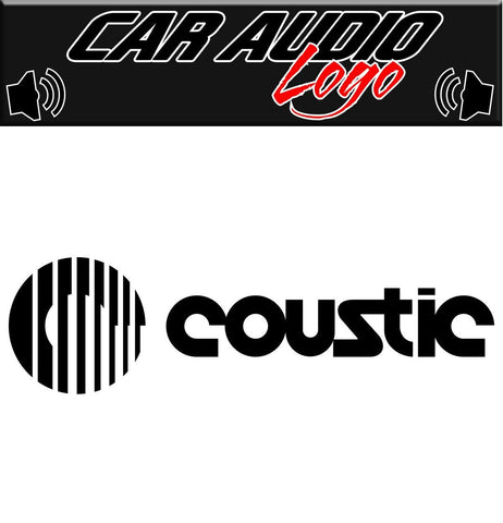 Coustic decal, sticker, audio decal