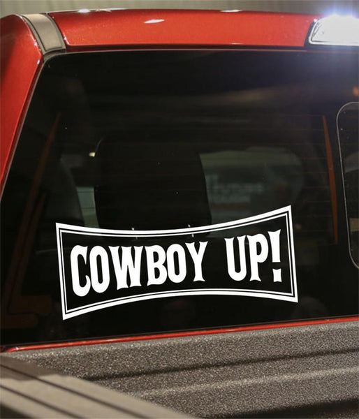 Cowboy up country & western decal - North 49 Decals