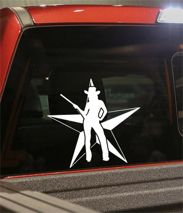 cowgirl star 2 country & western decal - North 49 Decals