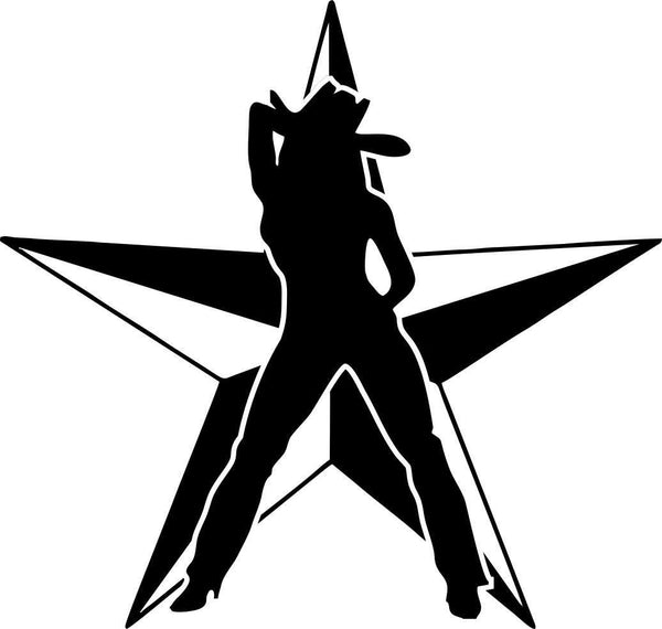 cowgirl star country & western decal - North 49 Decals