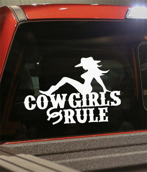 Cowgirls rule country & western decal - North 49 Decals