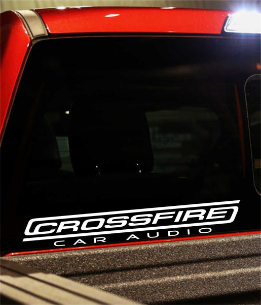 Crossfire decal, sticker, audio decal