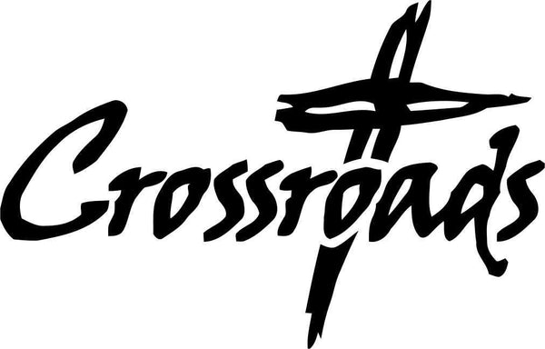 crossroads religious decal - North 49 Decals