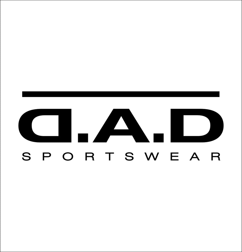 DAD Sportswear decal, car decal sticker