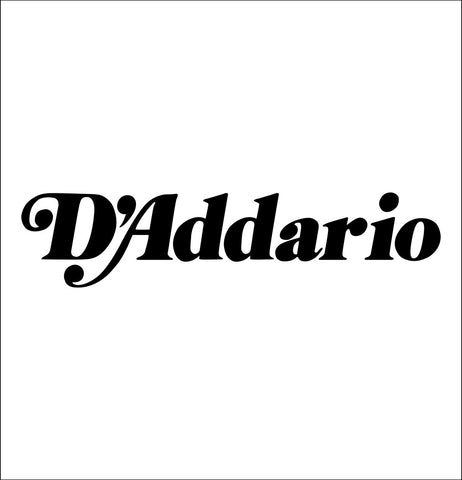 D'addario decal, music instrument decal, car decal sticker