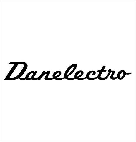 Danelectro decal, music instrument decal, car decal sticker