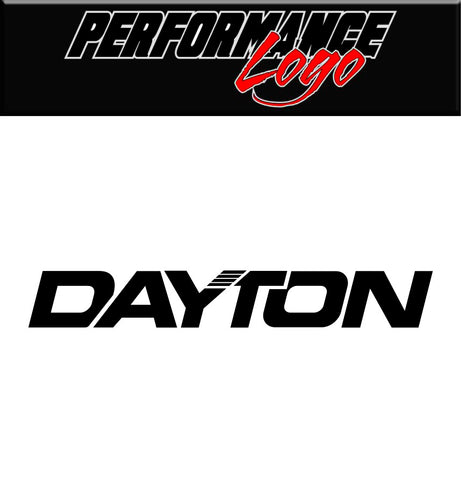 Dayton Tire decal, performance car decal sticker