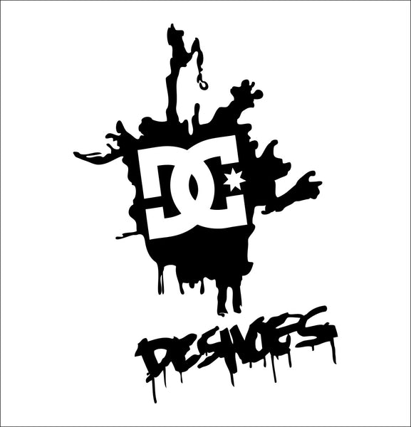 DC Shoes decal, skateboarding decal, car decal sticker