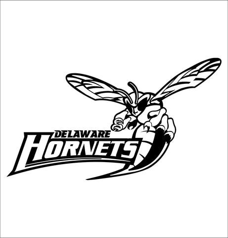 Delaware State Hornets decal, car decal sticker, college football
