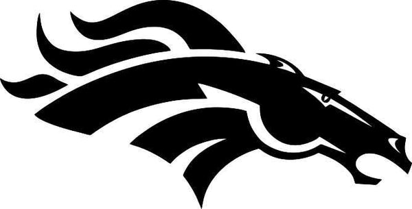 denver broncos car window decal