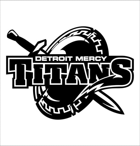 Detroit Mercy Titans decal, car decal sticker, college football