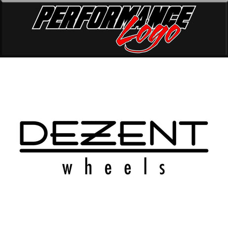 Dezent Wheels decal performance decal sticker