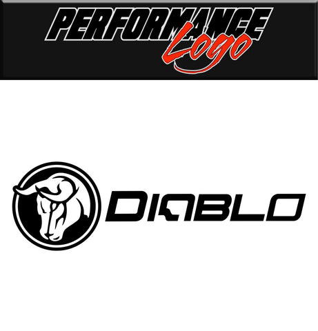 Diablo Wheels decal, performance car decal sticker