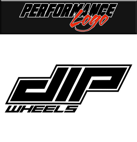 Dip Wheels decal, performance car decal sticker