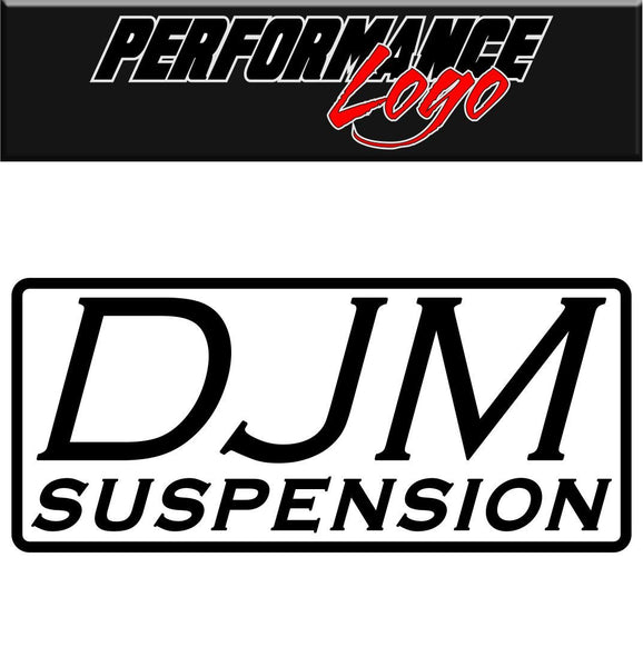 DJM Suspension decal performance decal sticker