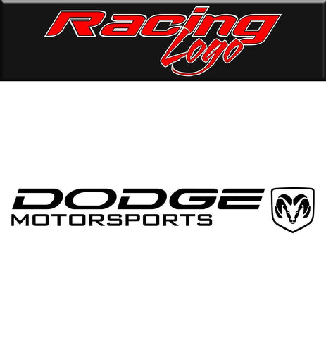 Dodge Motorsports Racing decal, racing sticker