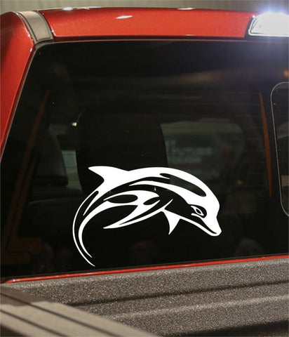 dolphin flaming animal decal - North 49 Decals