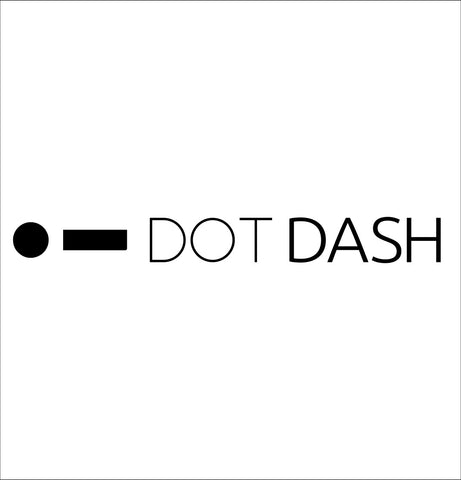 Dot Dash decal, car decal sticker