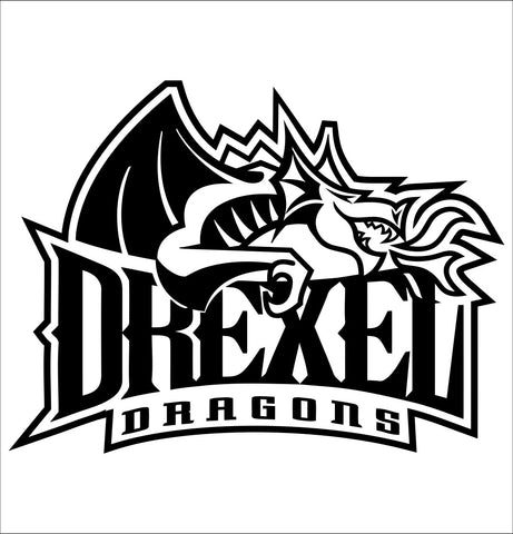 Drexel Dragons decal, car decal sticker, college football