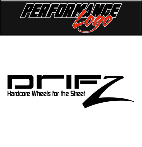 Drifz Wheels decal, performance car decal sticker