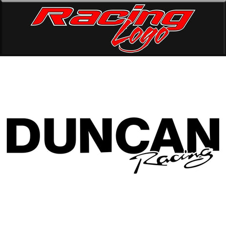 Duncan Racing Wheel decal, racing sticker